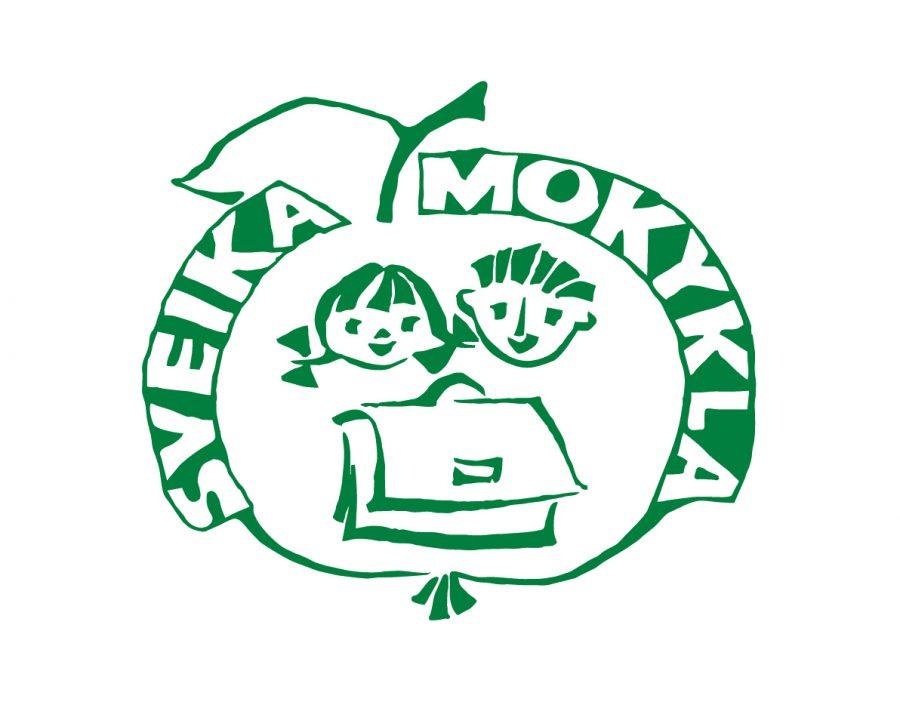 sveikos mokyklos logotipas